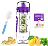Best Infuser Water Bottles - Time Marked Fruit Infuser Water Bottle AQUATIME Large Review