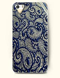 OOFIT Apple iPhone 4 4S Case Paisley Pattern ( Midnight Blue Vintage Print of Paisley Desgin )