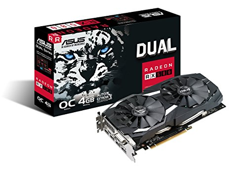 ASUS Radeon RX 580 O4G Dual-Fan OC Edition GDDR5 DP HDMI DVI VR Ready AMD Graphics Card (DUAL-RX580-O4G)