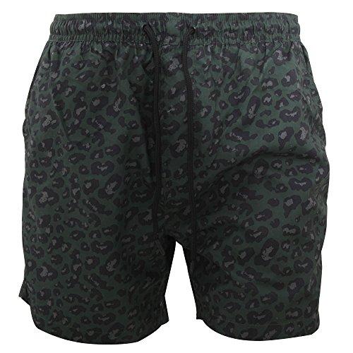 Brave Soul Mens Camo Leopard Print Swim Shorts (S) (Leopard Print Swim Trunks)