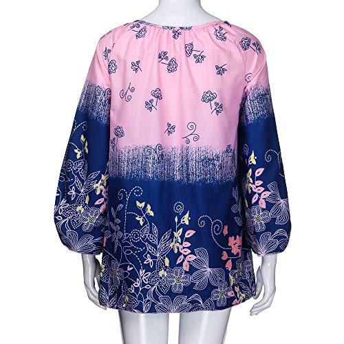 Camicia Donna Lunga GiveKoiu Rosa Manica WzpqOYdw