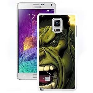 Fashionable Custom Designed Samsung Galaxy Note 4 N910A N910T N910P N910V N910R4 Phone Case With The Hulk Screaming Illustration_White Phone Case