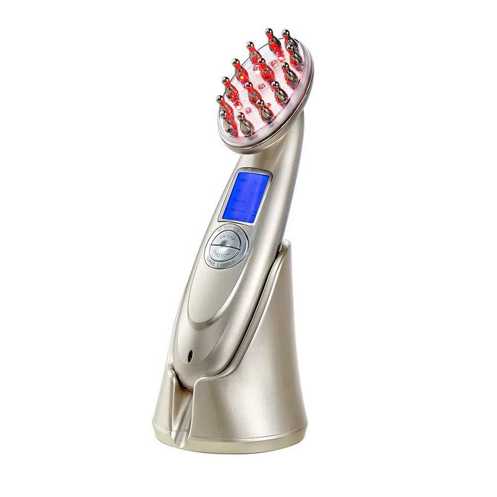 髪の成長櫛電気抗毛損失治療マッサージヘア再生ブラシ無線周波数職業 EMS Led フォトンライトセラピー櫛 B07SVTXL6W