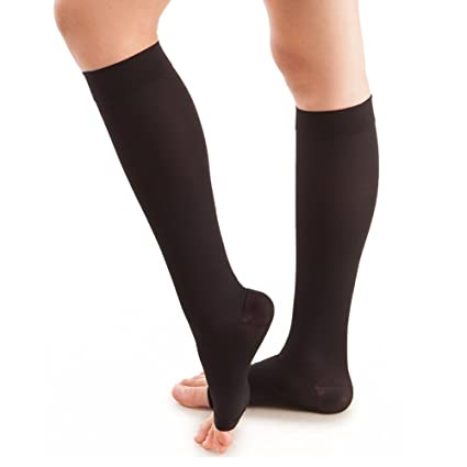 4b66cf0580 Lingssss Maternity Compression Socks 20-30 mmhg Medical, Toeless Pregnancy  Compression Socks Knee High Travel Women Men Nurse Doctor Recovery Varicose  Veins ...