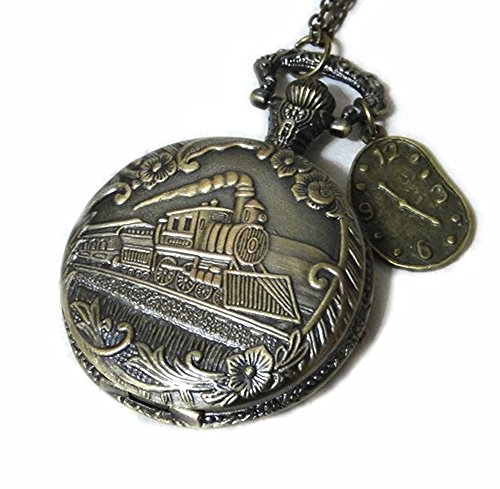 Pocket Watch Pendant - Time to Catch the Train Pocket Wat...