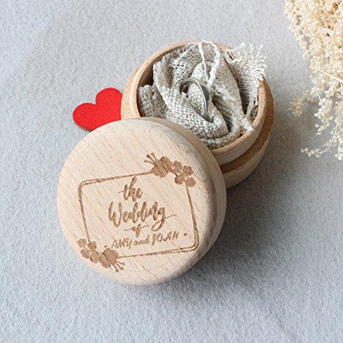 Wooden Wedding Ring Box,Rustic Engagement Ring Box,Wedding Ring Holder Box,Custom Name Engraved Ring Bearer Box,Wedding - And Uk Co Tiffanys