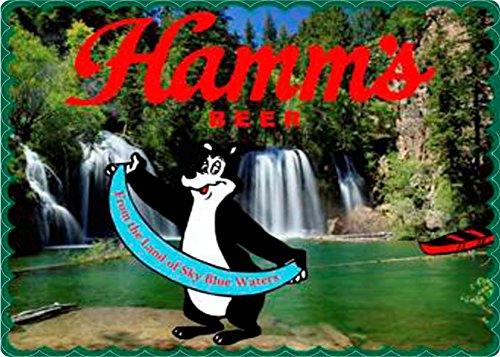 Hamms Bear - Reproduction of Vintage Hamm's Bear By Waterfall From the Land of Sky Blue Waters Ad on 5