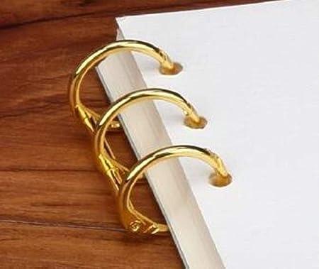 Notebook Metal Circle Album Loose Leaf Ring Scrapbook Clips Hinged Binder