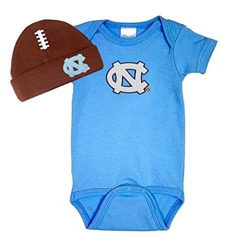 Future Tailgater North Carolina UNC Tar Heels Baby Football Hat Onesie Set (Newborn)