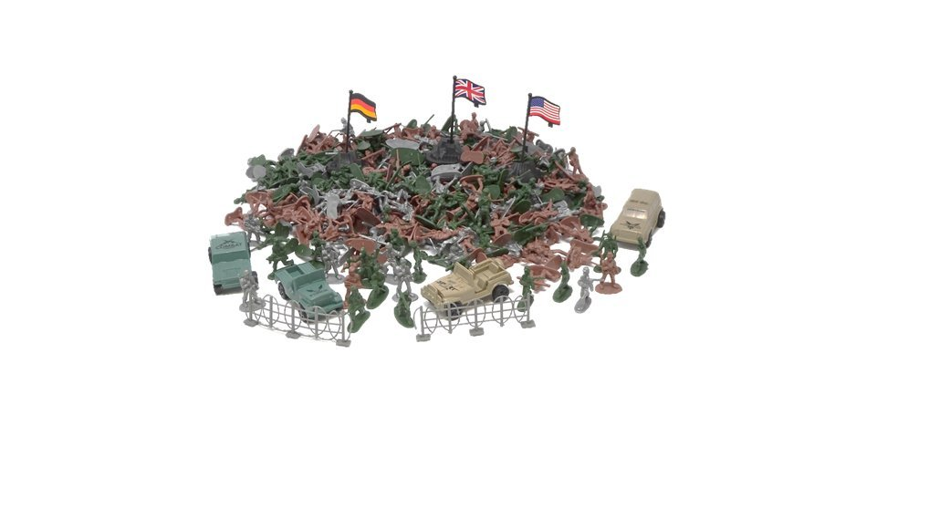 306 Military Army Figures With Amry Vehicles