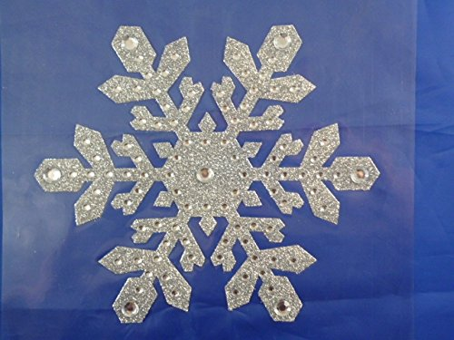 Amazoncom  Inch Large Silver Glitter Snowflake Window Sticker - Snowflake window stickers amazon