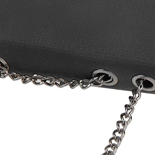 À Bandoulière Mode Noir En Cuir Femmes Chaîne La Sac Fille Sac À Cabina Main Mini Sac d'épaule PU qI5SxwPT