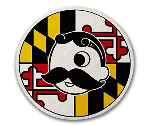 Route One Apparel | Maryland Flag with Official Natty Boh Logo Cork Coaster