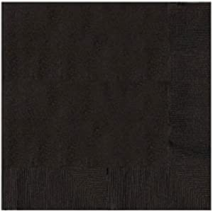 Jet Black 2-Ply Beverage Napkins | Pack of 50 | Party Supply