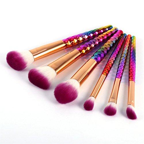 6Pcs Makeup Brushes Set Pincel Maquiagem Colorful Contour Base Foundation Powder Blush Brush Cosmetics Make Up Brushes