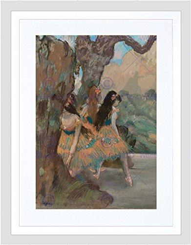Edgar Degas French Ballet Dancers Black Frame Framed Art Print Picture B12X5173