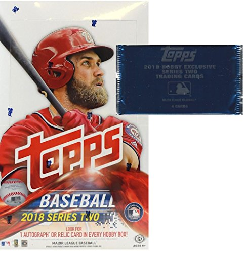 2018 Topps Series 2 MLB Baseball HOBBY box (36 pk plus ONE bonus pack)
