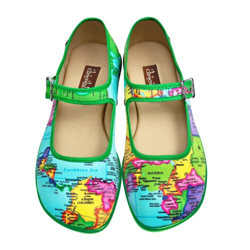 Hot Chocolate Design Chocolaticas Bon Voyage Women's Mary Jane Flat Multicoloured HCD 39]()