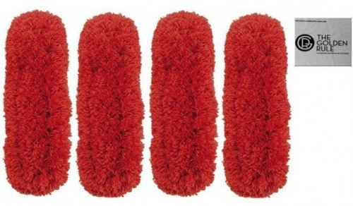 Good Microfiber Cloth (4 Pack Synonymous Replacement Microfiber OXO Good Grips Duster Refill and Synonymous Screen Clean/Glasses Cloth (4, Red))
