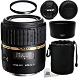 Tamron SP AF 60mm f/2 DI II LD (IF) 1:1 Macro Lens For Nikon Digital SLR Cameras + Bonus 55mm UV Filter, & MORE - International Version (No Warranty)