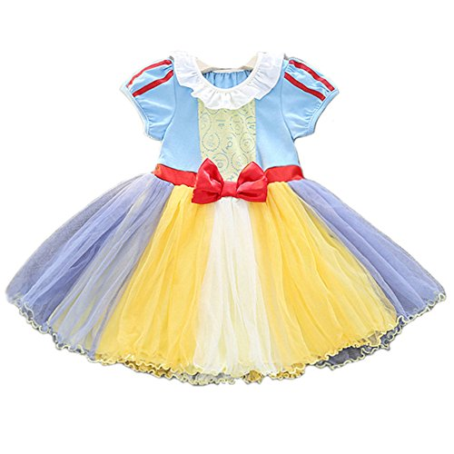 JiaDuo Baby Girls Casual Party Tutu Dress Cotton Princess Costumes Yellow (Princess Tutu Cosplay Costume)