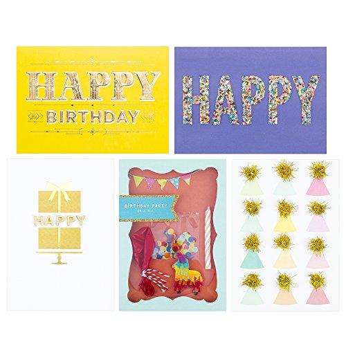 Hallmark Signature Birthday Greeting Cards (5 Cards, 5 En...