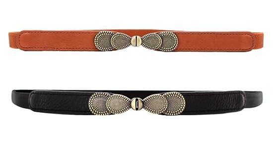 Maikun Womens Adjustable Leather Belts Fashion Skinny Minimalism Waist Strap 7 Colors