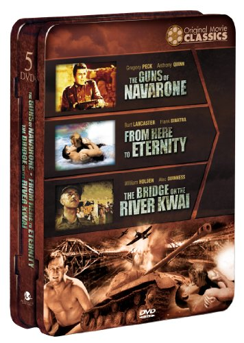 World War II Films: Guns of Navarone/From Here to Eternity/The Bridgeon the River Kwai (Alec Guinness Bridge On The River Kwai)
