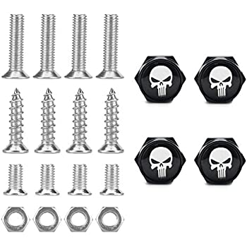 Amazon Com Dsycar Chrome Metal Skull Logo Anti Theft Car