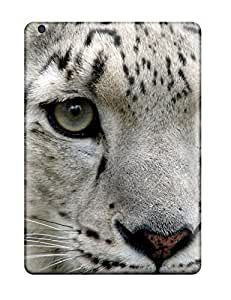 Oswcnqy7329TLmCv Tpu Case Skin Protector For Ipad Air Snow Leopard Pictures With Nice Appearance