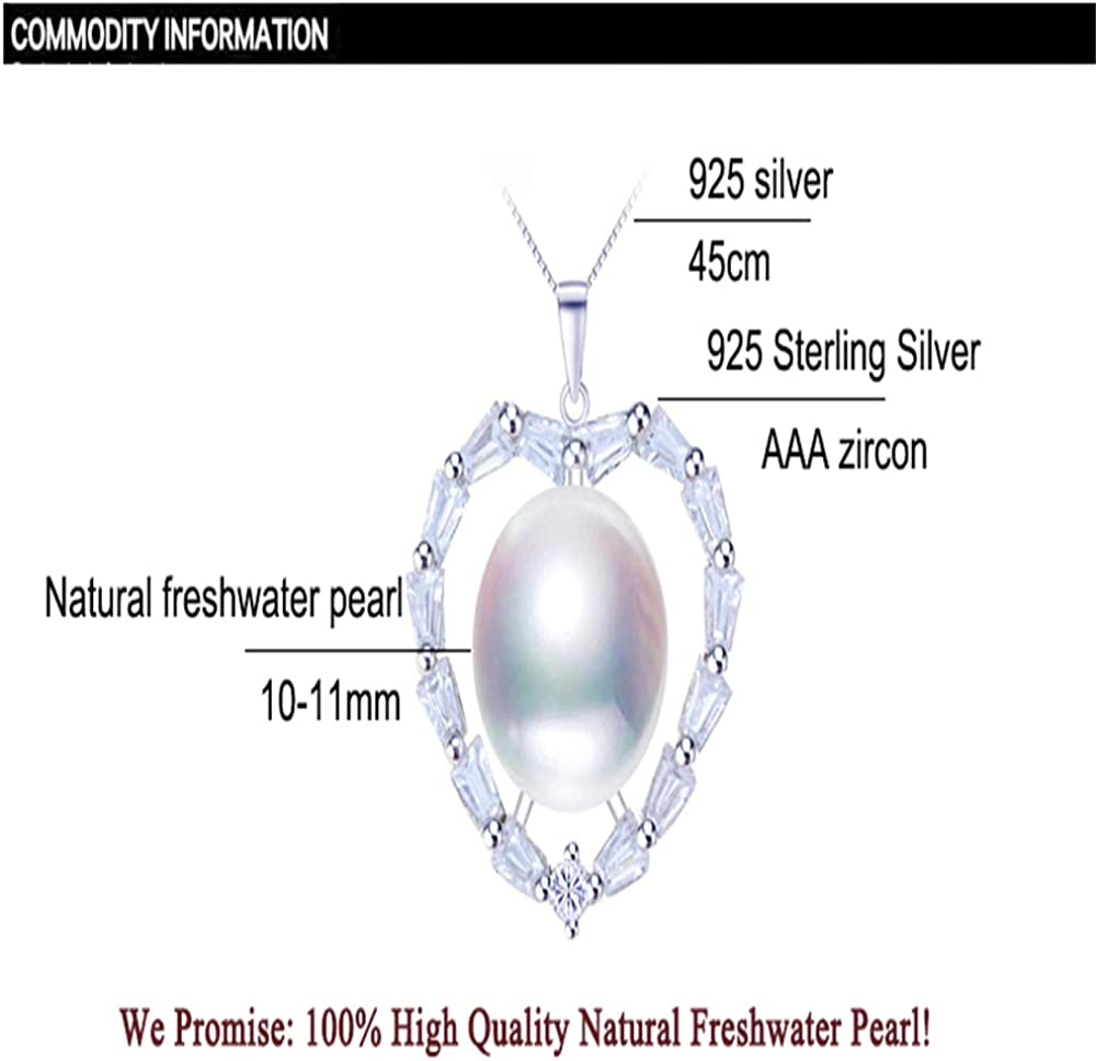 GLEENECKLAC Pearl Jewelry Pearl necklace Natural Freshwater Pearl Silver Necklace Pendant necklaces pendants jewelry box