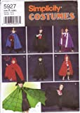 Simplicity Sewing Pattern 5927 Childs' Halloween Costumes: Cape, Robe & Headpieces