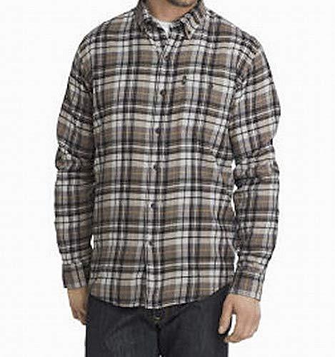 G.H. Bass & Co. Mens Button Down Plaid Flannel Shirt Gray 3X