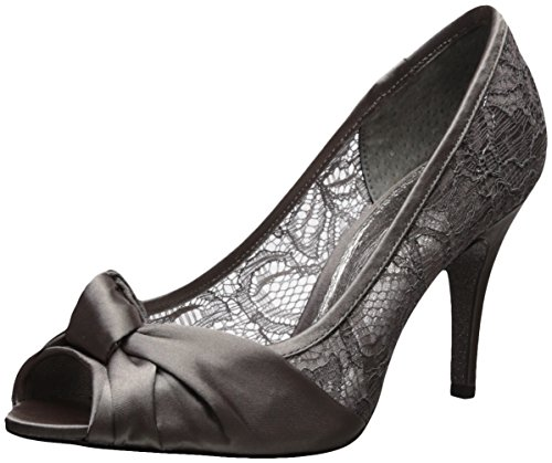 Adrianna Papell Women's Francesca Pump Steel Satin footaction sale online buy cheap new styles clearance tumblr 3r51v6d9F