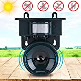PowerRider Garden Creations Ultrasonic Cordless Pest Repeller Solar PIR Motion Sensor Ultrasonic Bird Repeller Pest Animal Distress Repellent