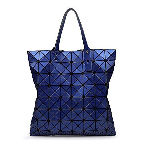 Mefly Plegado geométrico Bolso bandolera Lingge blanco blue