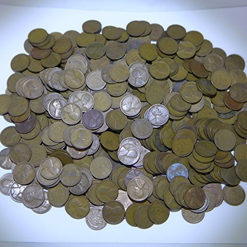- Lincoln Wheat Cents Various Mint Marks 500 Pieces, All from the 1920's Circulated