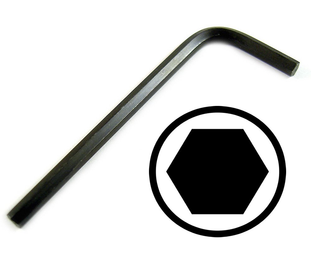 7//64 Short Arm Hex Key L-Wrench 2 Pack 7//64