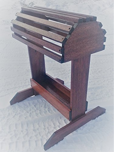 (New Rustic Mahogany Saddle Rack W/Tray )