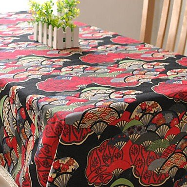 W&P Japanese Style Table Cloth Fashion Hotsale High-grade Cotton Linen Square Coffee Table Cloth Cover Towel , s (Japanese Wp)