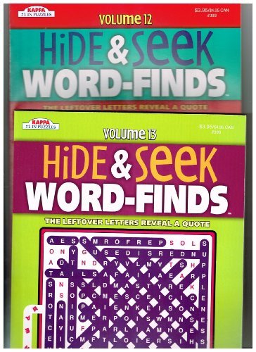 Hide & Seek Word-Finds Set of 2 (See Seller Comments for Volumes) by Kappa