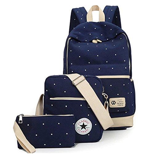 Price comparison product image Tomato eggs School Bag Set Canvas Backpack Handbag Lunch Shoulder Bags Pencil Cases Casual Daypack 3PCS Backpacks Rucksacks School Bags For Girls Womens Backpack For Teen Vintage Rucksack