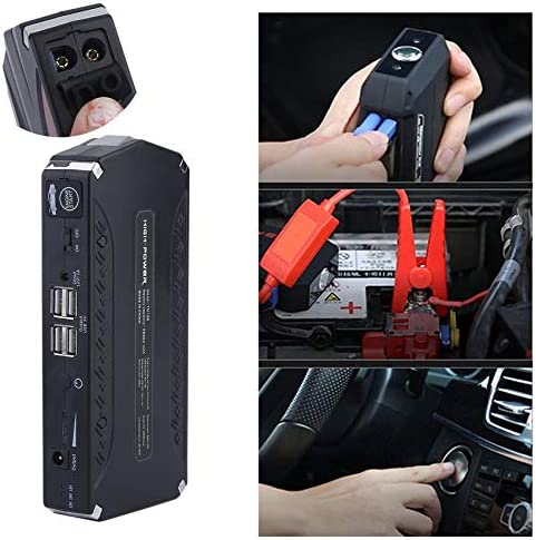 Multifunctional 10000mAh Power Bank Auto Jump Starter Battery Portable Vehicle Battery Charging Emergency Booster