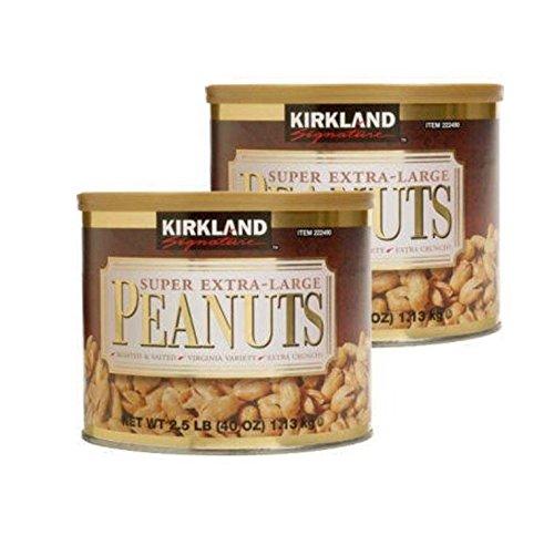 Kirkland Signature Super Extra-Large Peanuts Roasted & Salted 2.5 lbs (Pack of 2) ()