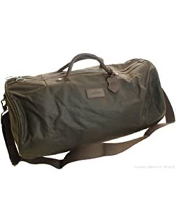 4d76a6dc45d5 Barbour Holdall Waxed Cotton Bag - Olive