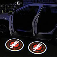 Patricon 4-Pack Wireless Car Door Led Welcome Light Projector,No Drill Type Logo Light Ghost Shadow Light Lamp Replacement for Jeep Accessories