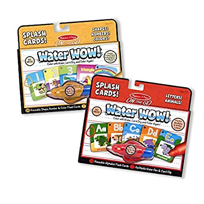 Melissa & Doug Water Wow Splash Cards Bundle - Alphabet and Numbers & Colors: Melissa & Doug: Toys & Games