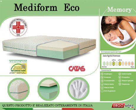 Ergorelax Colchón Memory Mod. mediform Eco Presidio médico Altura Cm. 22: Amazon.es: Hogar