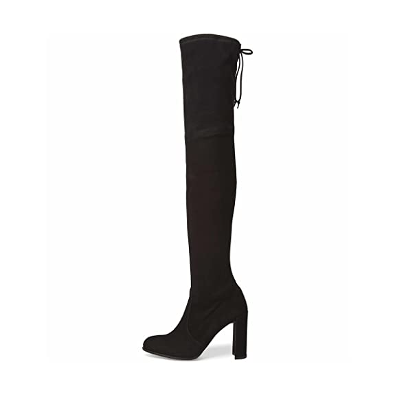 10b59213e49 Amazon.com | XYD Women's Sexy Over The Knee Thigh High Back Lace Up ...