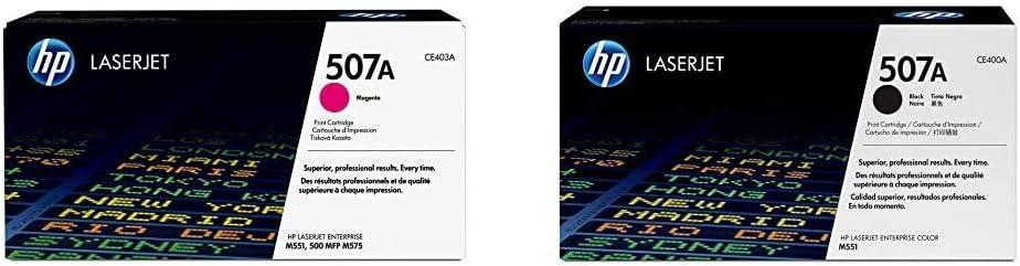 HP 507A Magenta Toner & 507A   CE400A   Toner Cartridge   Black